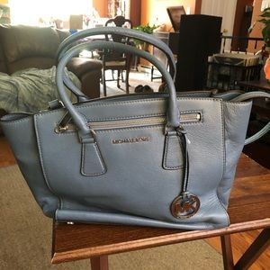 Michael kors baby blue tote beautiful color